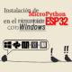 MICROPYTHON ESP32 – Instalación de MicroPython en el microcontrolador ESP32 con WINDOWS