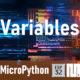 MICROPYTHON ESP32 – CONCEPTOS BÁSICOS de Python <br>Variables